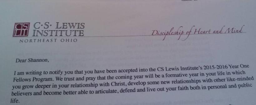 CS Lewis Acceptance